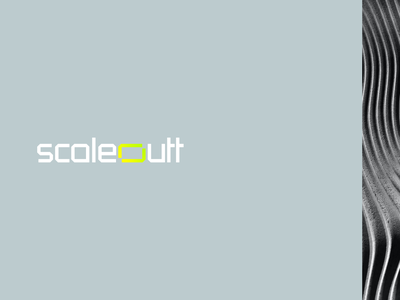 Scaleoutt logo designer scale software mark symbol icon new york ukraine gradient green yellow agency firm company cyber saas it tech app frame out