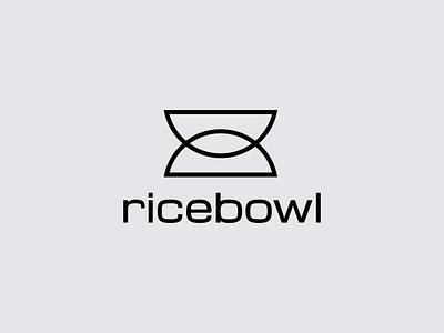 Ricebowl tokyo japan horeca restaurant branding grey ukraine new york shape icon symbol mark logo designer food fastfood restaurant bowl rice