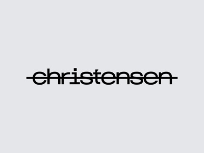 Christensen startup mark branding logo firm company agency management grey japan new york usa ukraine logo designer consulting kharkiv brand identity moden minimal flat shape