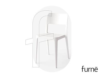 Furne logo logo designer company shop furniture new york usa ukraine japan kharkiv brand idnetity modern minimal flat shape branding mark icon emblem studio chair wordmark