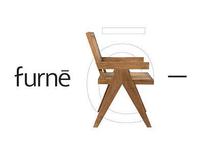 Furne branding chest and drawers chair studio modern minimal flat shape brand identity kharkiv ukraine japan usa new york furniture shop company logo designer logo