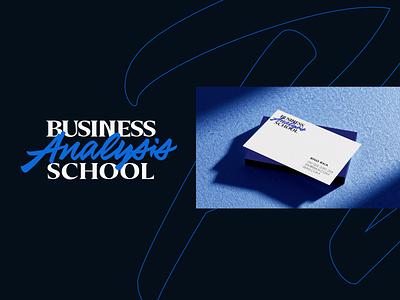 Business Analysis School mark icon emblem modern minimal flat shape logo brand identity kharkiv ukraine new york logo designer branding course school analysis business