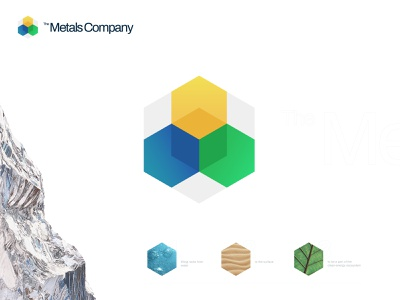 The Metals Company mark icon emblem modern minimal flat shape logo brand identity kharkiv branding ukraine new york logo designer company hexagon clean energy metal