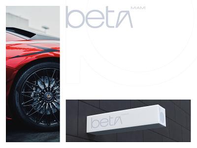 Beta Miami b company tech startup ukraine mark icon emblem modern minimal flat shape brand identity branding new york logo designer miami beta rental car