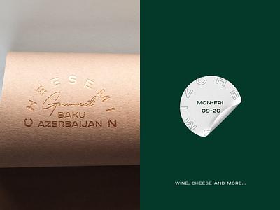 Cheesemiz gourmet wine cafe restaraunt shop cheese modern minimal flat shape mark icon emblem logo brand identity kharkiv branding ukraine new york logo designer