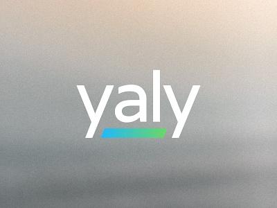 Yaly line usa mark icon emblem gradient modern service tech startup saas logo brand identity kharkiv branding ukraine new york logo designer