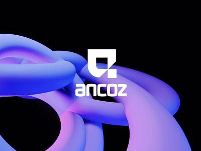 Ancoz allign logo designer new york ukraine branding kharkiv brand identity logo usa mark icon emblem mascot gradient saas tech modern flat startup a
