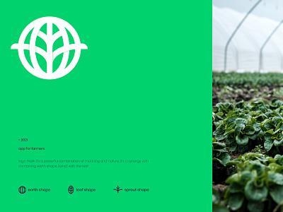 Sproutle greenhouse farmer farm plant sprout leaf green usa saas startup app tech mark icon emblem mascot logo brand identity kharkiv branding ukraine new york logo designer