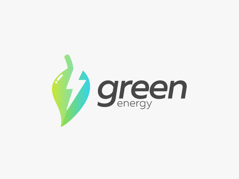 green energy leaf logo