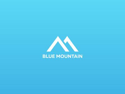 Blue Mountain / gas&oil / logo design geometric logo flat logo minimal logo blue logo mountain logo oil logo gas logo logo designer new york kharkov kharkiv ukraine branding simple company gas geometry logo modern mark mountain