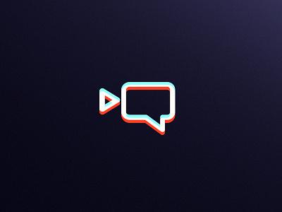 Neon Films / cinema discussion & reviews / logo design symbol film bitcoin crypto coin chat discussion blockchain cryptocurrency video blog logo designer neon colors neon light neon logo new york kharkiv dialog box icon logo cinema camera purple anaglyph neon