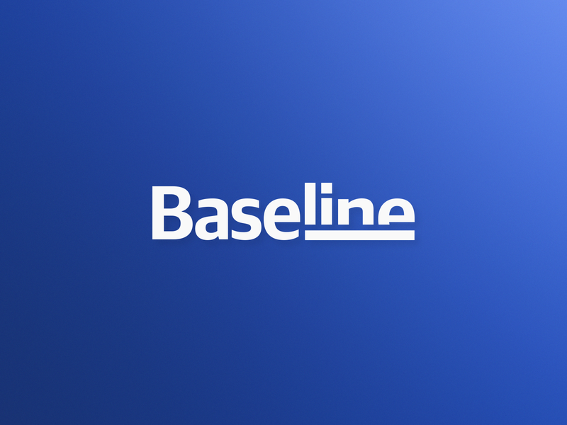 Baseline / management consulting / logo wordmark guideline blue logo underline logo designer new york kharkov kharkiv ukraine guidelines branding wordmarks wordmark simple modern logo flat blue baseline base