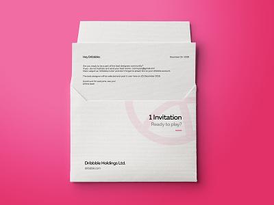 1 Dribbble Invitation ball logo branding design invite giveaway join dribbble join give away giveaway invitation invite