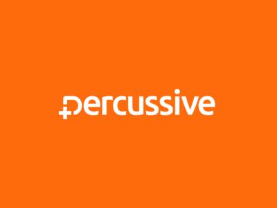 Percussive / software services / logo wordmark