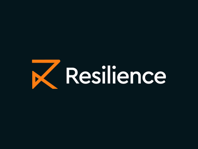 Resilience / pollution detection systems / logo design analyse technology startup logo icon logo designer kharkiv ukraine new york orange systems detect pollution resilience