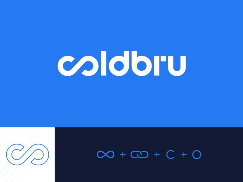Coldbru typebased minimal logo startup kharkiv ukraine mark typography logo designer new york logo blue brew cold