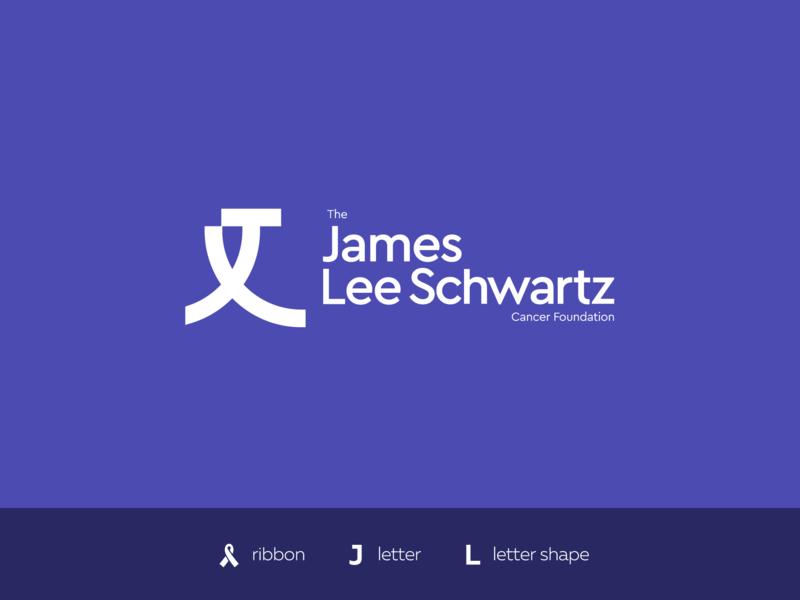 JLS Foundation l letter fund nonprofit type symbol logo mark j letter logo designer tokyo los angeles san francisco new york ukraine purple violet ribbon foundation cancer