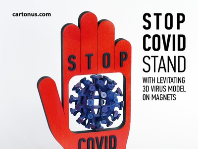 STOP COVID stand - kinetic installation