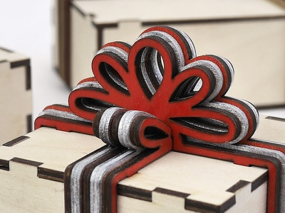 It seems we are tied bowknot out of plywood vector jewelry box gift box woodworking lasercut diy laser cutting laser cut