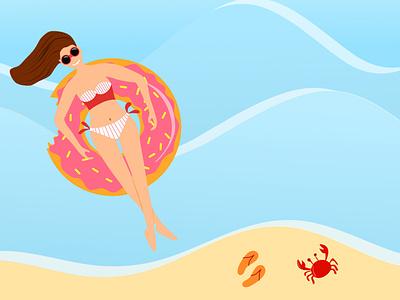 Summer relax vector illustration