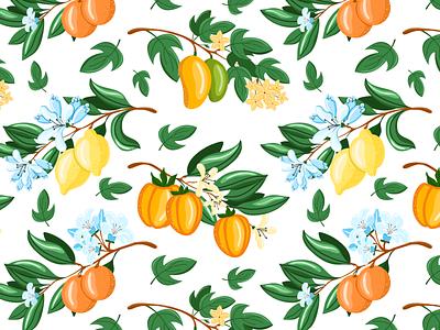 Fruit pattern vector illustration
