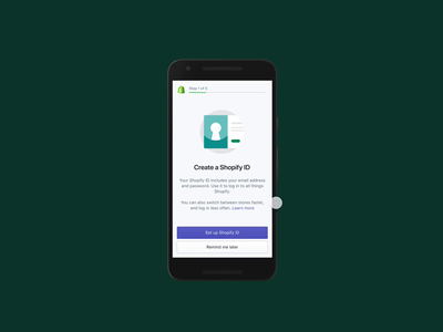 One account, all of Shopify account password shopify product design ux mobile
