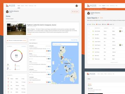 Agos e-Bayanihan Volunteer Platform rappler philippines management reports calamities platform website ui crisis management