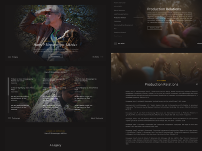 Memorial Website: Hans P. Binswanger-Mkhize scientist person in memory of memorial website