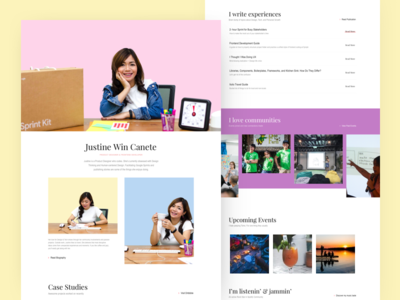 Personal Website minimalist pop color vibrant brochure portfolio ui website personal