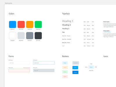 Style guide web ui style styleguide