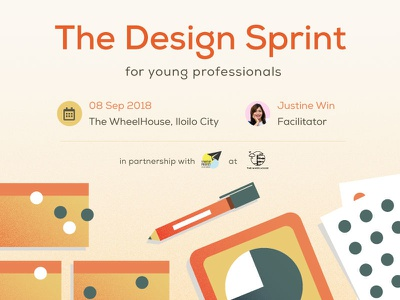 Design Sprint community tech event poster design sprint