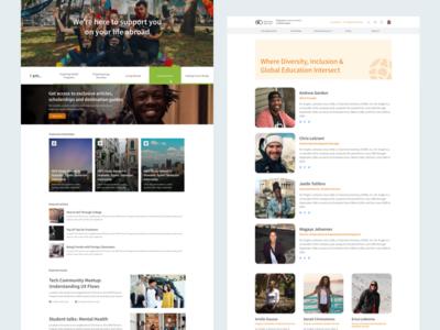 Landing pages for Diversity Abroad website design ux ui website landing