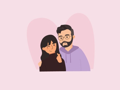 Me and Arman illustration character couples