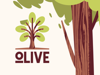 Olive oil tree typography type texture icon mark logo layout identity design olive