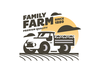 Old Farm Truck 🚜 trademark truck vector typography type texture layout design illustration badge logo farm