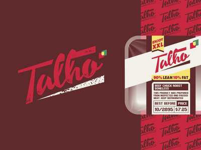 Talho 🥩 brand mark identity portugal meat butchery typography type lettering logo talho