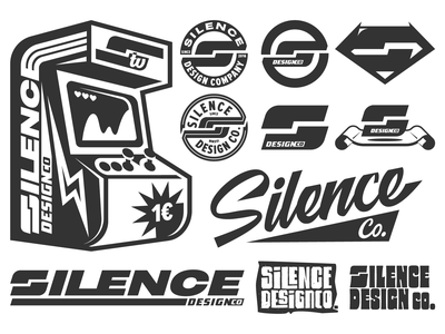 Silence Design Co. ✏️🔇 company illustration vector layout typography texture design retro silence