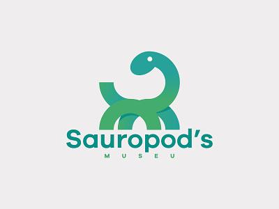 Sauropod's Museu simple illustration animal smile logo icon harry sauropod museu