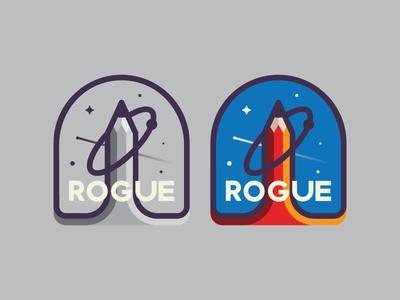 Rogue vector rogue universe illustration design magic logo badge sticker espace identity typography