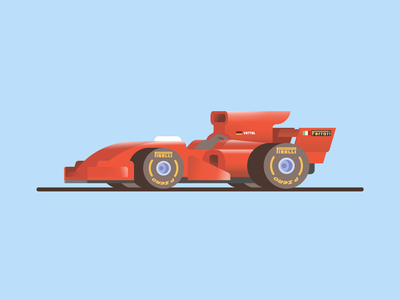 🏎💨 ferrari red animation playoff car color formula 1 f1 vector illustration cute