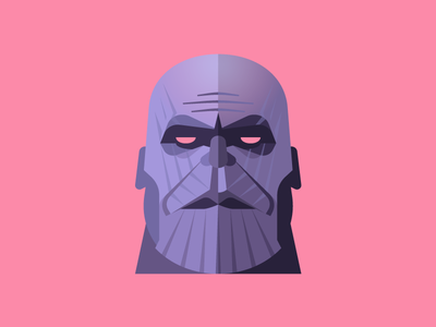 Thanos villain marvel avatar character vector illustration infinity war avengers thanos face