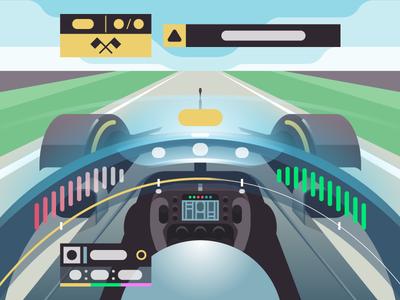 🏎💨 mercedes vector illustration color race f1 formula 1 onboard