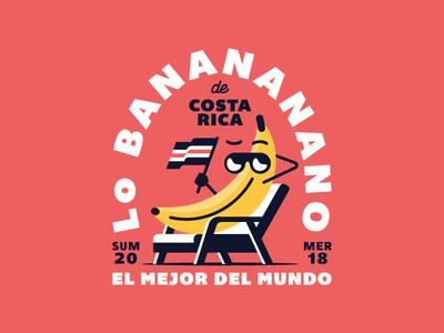 Costa Rica 🇨🇷 texture typography vector trekking illustration summer costa rica banana badge