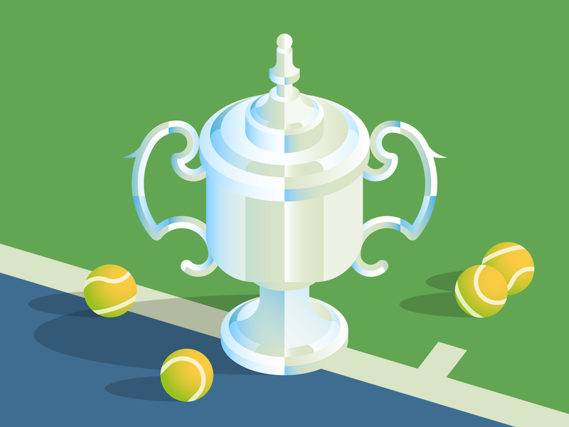 US Open '18 🎾🇺🇸 trophy cup america usa vector texture illutration tennis us open