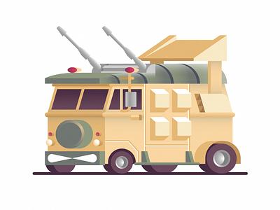 Turtle Van cute design retro texture car illustration teenage mutant ninja turtles tmnt pizza van