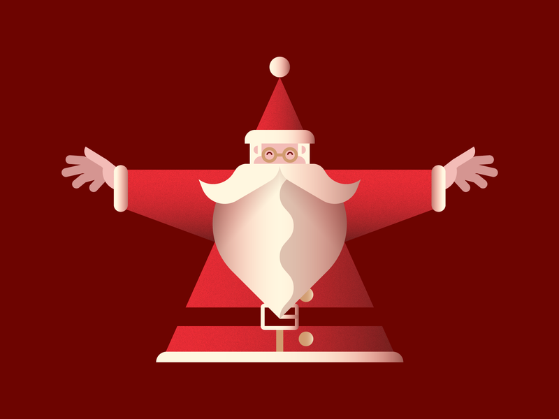 Merry Xmas! 🎄 animation snow gradient texture vector illustration xmas santa claus christmas