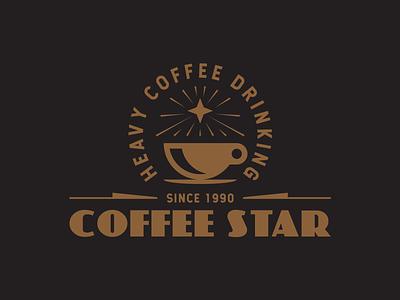 Coffee Star ☕️ black brown identity icon layout trademark typography type illstration logo star coffee