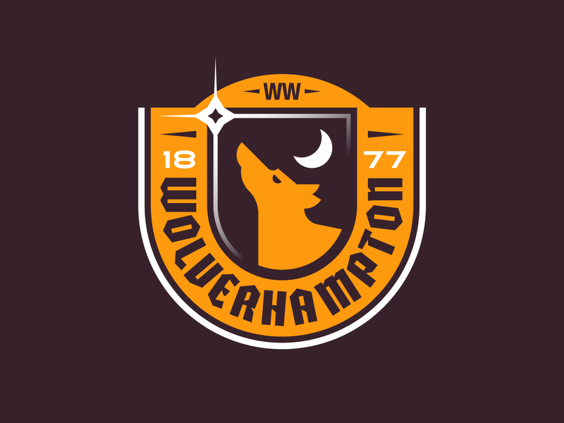 Wolves #2 badge logo football soccer illustration wolves england crest retro icon texture cute