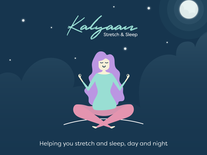 Kalyaan Stretch and Sleep App Concept by Aimee Sands on Dribbble