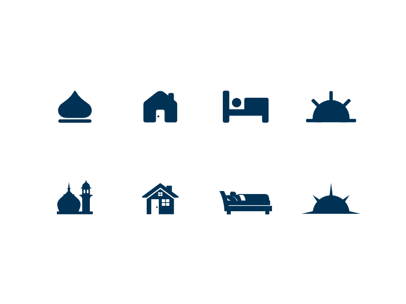 Icon set for supplication app icon pictogram